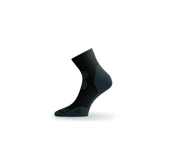 Lasting TKI 908 černá trekingová ponožka  ponožky