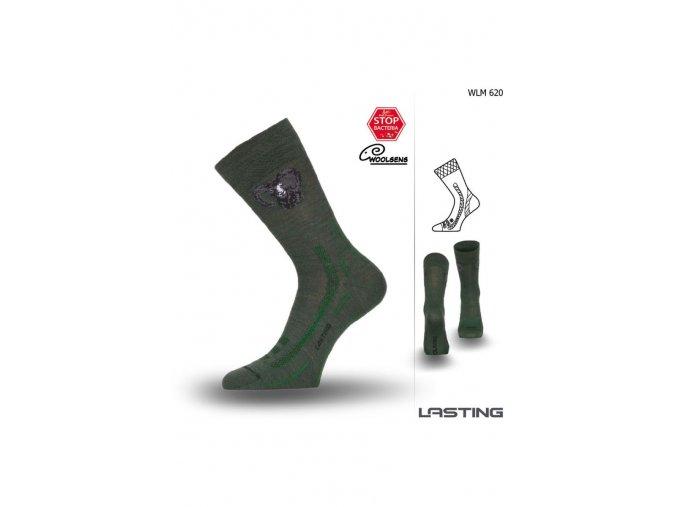 Lasting Hunting WLM 620 zelená  ponožky