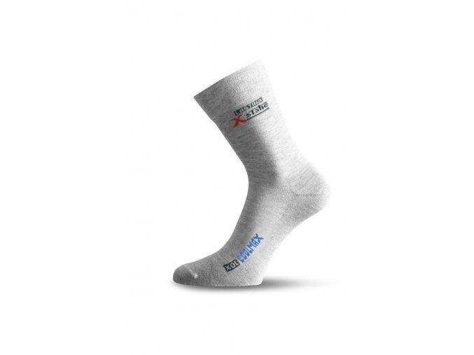Lasting XOL 800 šedá turistická ponožka  ponožky