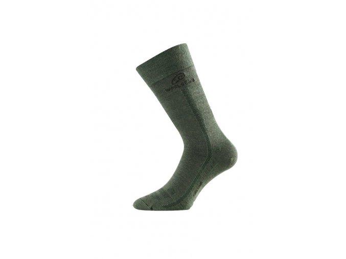 Lasting WLS 620 zelená vlněná ponožka  ponožky