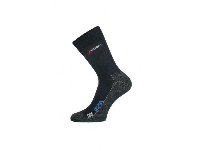 Lasting XOL 900 černá turistická ponožka  ponožky