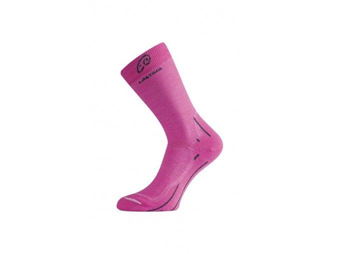 Lasting WHI 408 růžová merino ponožky  ponožky