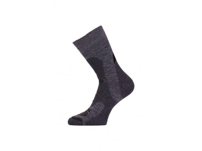 Lasting TRP 889 šedá středně silná trekingová ponožka  ponožky