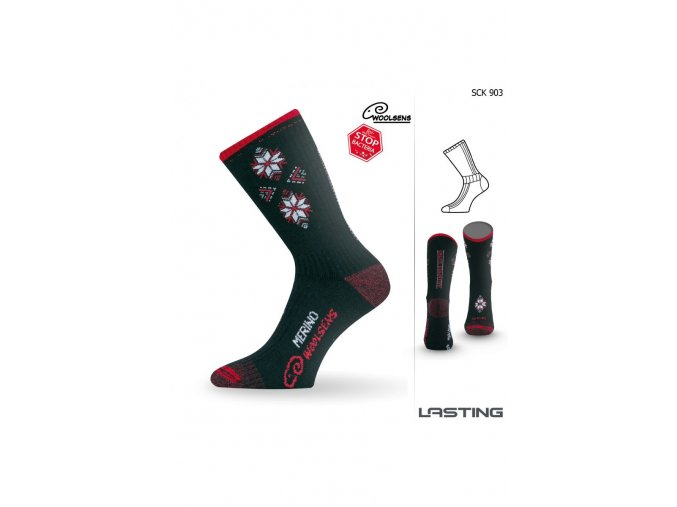 Lasting SCK 903 černá Lyžařské ponožky  ponožky