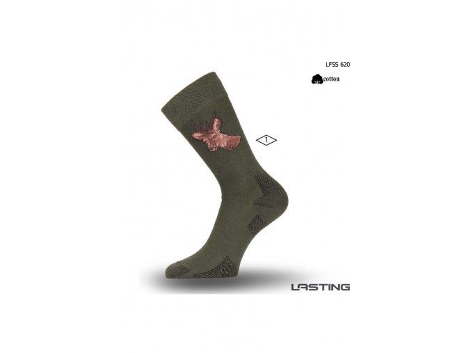 Lasting Ponožka LFSS 620 zelená  ponožky