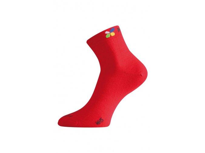 Lasting WHS 388 červená merino ponožka  ponožky