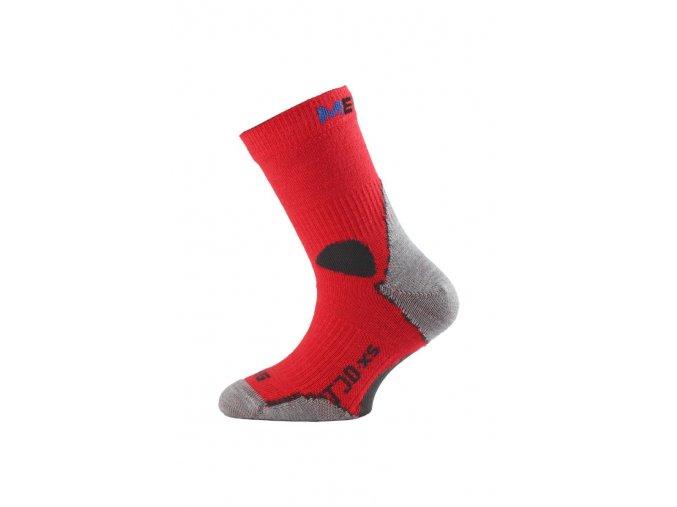 Lasting TJD 306 červená merino ponožka junior slabší  ponožky