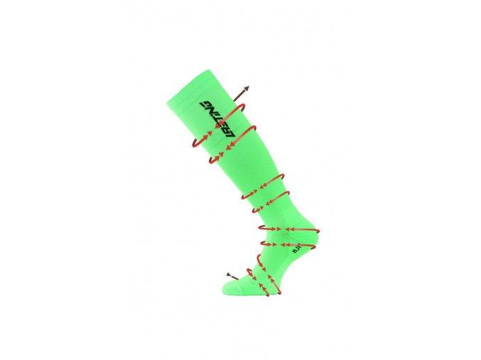 Lasting RJJ 600 zelená kompresní podkolenky  ponožky