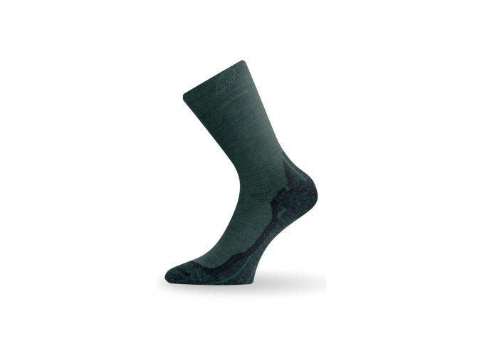 Lasting WHI 620 zelené vlněné ponožky  ponožky
