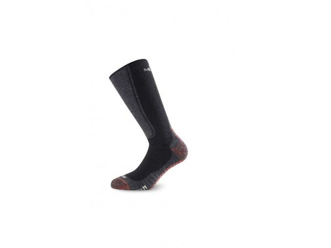 Lasting WSM 900 černé vlněné ponožky  ponožky