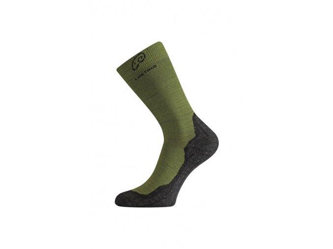 Lasting WHI 699 zelené vlněné ponožky  ponožky