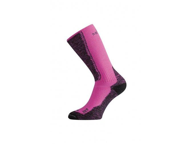 Lasting WSM 489 růžová merino ponožky  ponožky
