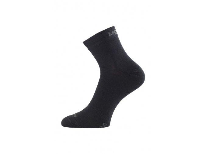 Lasting WHO 900 černé ponožky z merino vlny  ponožky
