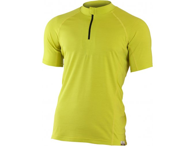 Lasting CHRIS 6969 žlutá pánské vlněné Merino triko