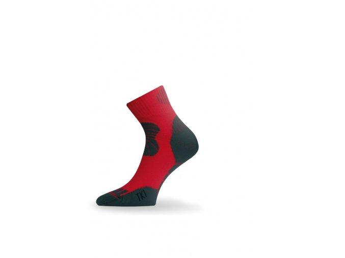 Lasting TKI 308 červená trekingová ponožka  ponožky