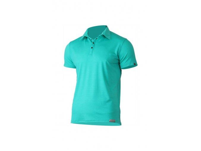 Lasting ELIOT 6565 zelená vlněná merino polo košile