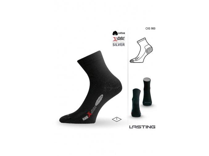 Lasting CXS 900 černé ponožky se stříbrem  ponožky