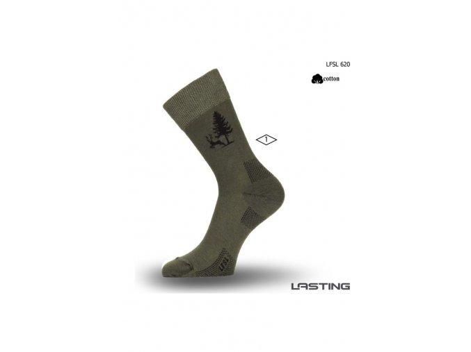 Lasting LFSL 620 Bavlněné zelená  ponožky