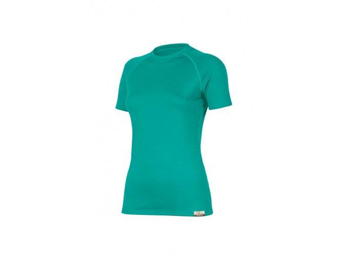 Lasting ALEA 6565 tyrkysové vlněné merino triko