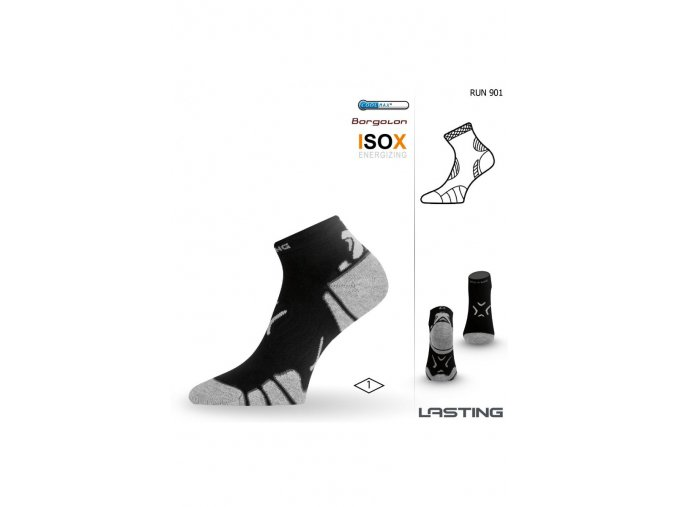 Lasting RUN 901 černá běžecké ponožky  ponožky