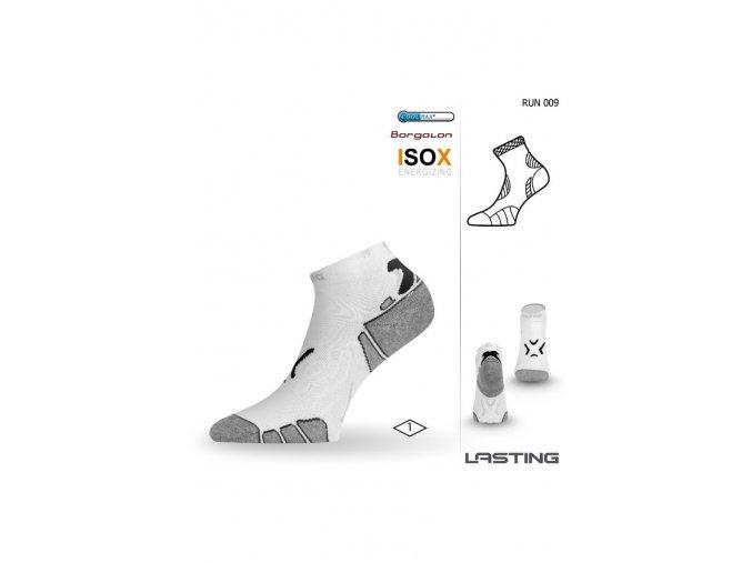 Lasting RUN 009 bílá běžecké ponožky  ponožky