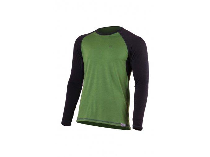 Lasting MARIO 6080 zelené pánské vlněné merino triko