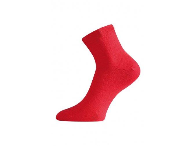 Lasting WAS 388 červené ponožky z merino vlny  ponožky