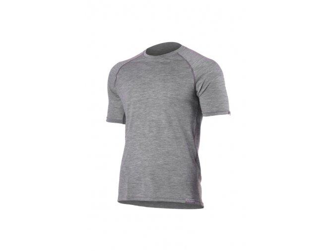 Lasting QUIDO 8484 šedé pánské vlněné merino triko