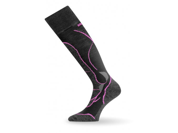 Lasting STW 984 Merino podkolenka černá  ponožky