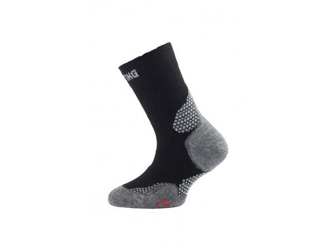 Lasting TJC 900 černá trekingová ponožka junior  ponožky