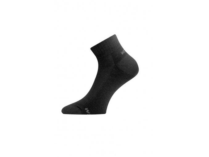 Lasting WDL 900 černé ponožky z merino vlny  ponožky