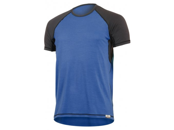 Lasting OTO 5180 modré pánské vlněné merino triko