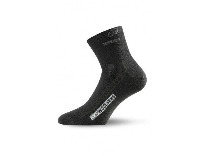 Lasting WKS 900 černé ponožky z merino vlny  ponožky