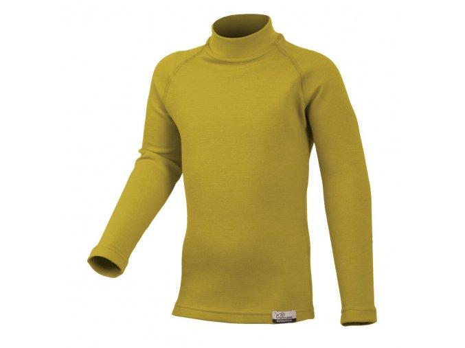 Lasting SONY 6464 hořčicové Vlněné merino triko
