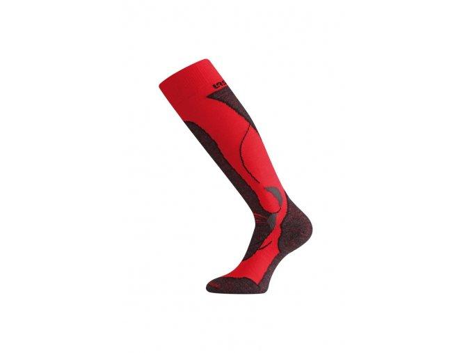 Lasting STW 389 Merino podkolenka červená  ponožky
