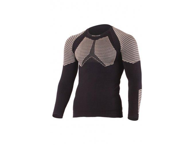 Lasting WEROLO 9070 černé vlněné bezešvé triko