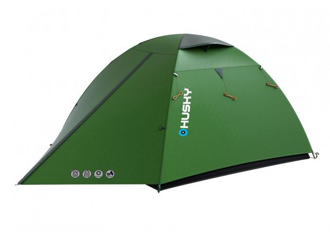 Husky Stan Extreme Lite   Beast 3 zelená  stan + čelovka LED 80lm