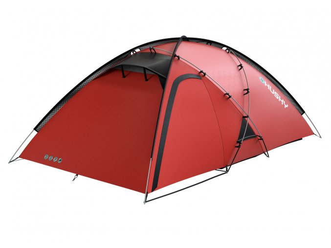 Husky Stan Extreme   Felen 3-4 červená  stan + čelovka LED 80lm