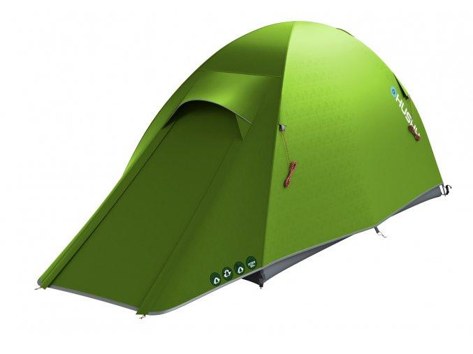Husky Stan Ultralight   Sawaj Ultra 2 zelená  stan + čelovka LED 80lm