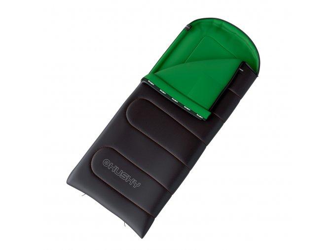 Husky Spacák dekový   Gala 0°C šedá/zelená  spací pytel