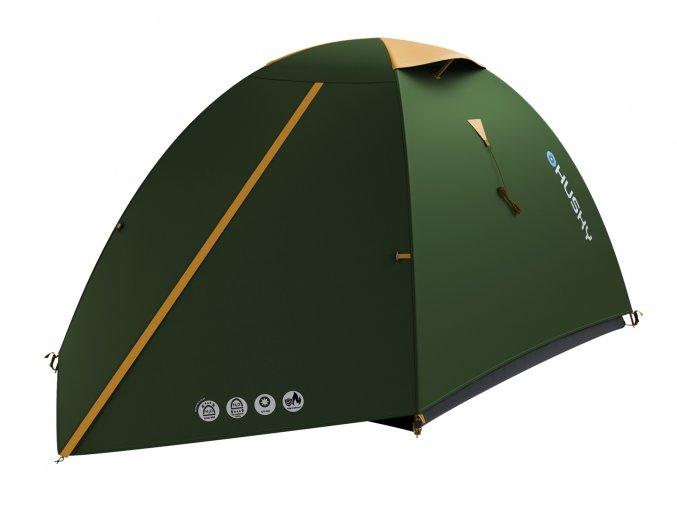 Husky Stan Outdoor Bizam 2 Classic zelená  stan + čelovka LED 80lm