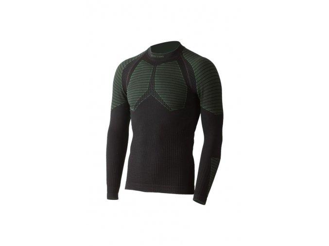 Lasting WEROLO 9060 černé vlněné bezešvé triko