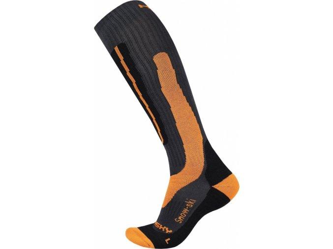Husky Podkolenky  Snow-ski oranžová  ponožky