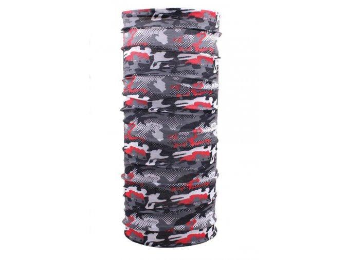 Husky multifunkční šátek   Printemp šedá camouflage