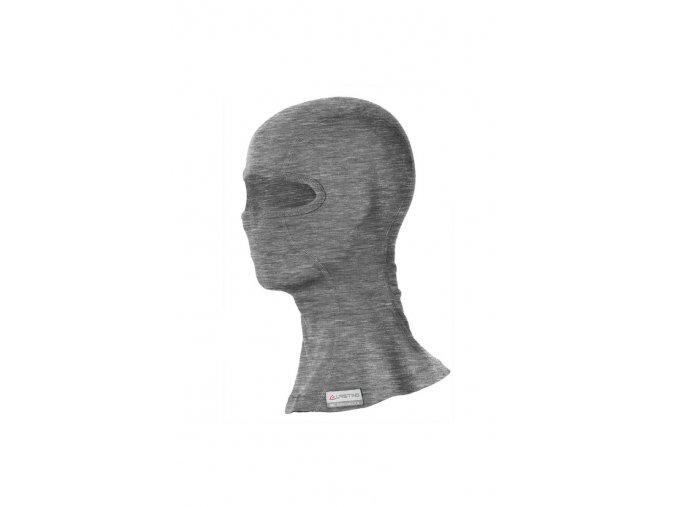 WAK 8484 šedá vlněná merino kukla