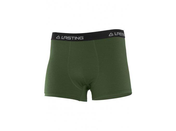 Lasting NORO 6262 zelené vlněné merino boxerky