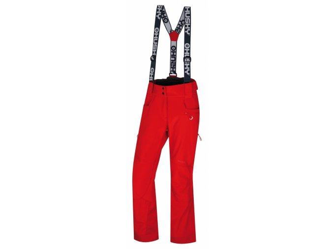 Husky Dámské lyžařské kalhoty  Galti L jemná červená