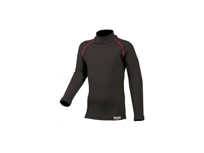 Lasting SONY 94P černé vlněné merino triko