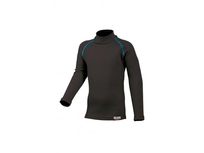 Lasting SONY 95P černé vlněné merino triko