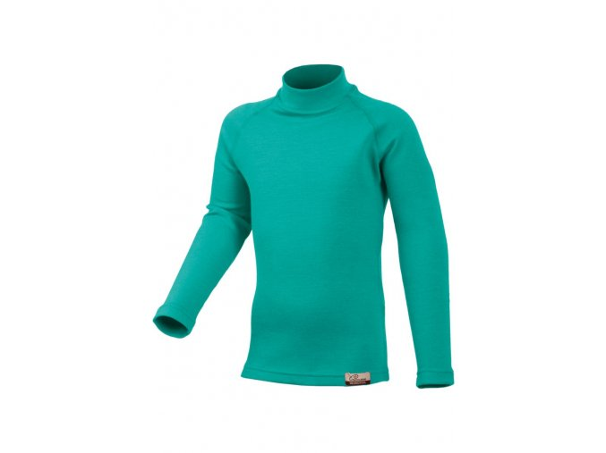 Lasting SONY 65P zelené vlněné merino triko